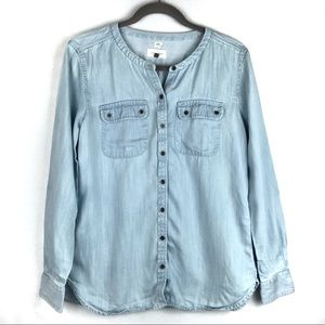 Loft | Women's Light-wash Button Down Denim Shirt